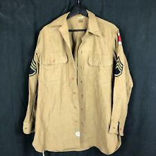 Wwii US Army Wool Shirt Patched 37th Div Buckeye 148th Regiment Stamp