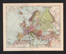 Landkarte map 1931: Europa. Politische Übersicht. Fluss-Gebirge. Industriegebiet