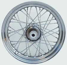 "Chrome Ultima 40 Spoke 16x3"" Front Wheel Single Disc for Harley FL 1973-1983"