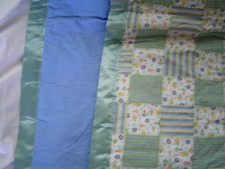 New flannel My Toy Patch Baby Blanket Seafoam Green Blue