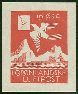 GREENLAND 1931, ROCKWELL KENT semi-official airmail reprint, 200 made, w/cert