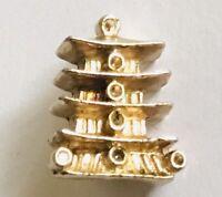 Japanese Traditional Building Horyu-ji Souvenir Pin Badge Rare Vintage (C11)