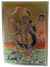 Figur DURGA als Parvati  auf Löwe sitting on lion Messing  brass 1,2x0,5x3,3 cm