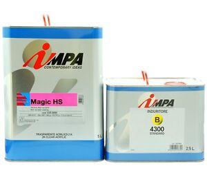 IMPA Magia Hs + Cat 7,5LT Pintar Transparente Brillo Dos Componentes para Coche