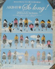 AKB48 So long 2013 Taiwan Promo Poster