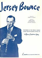 """JERSEY BOUNCE"" THE BENNY GOODMAN STORY-PIANO/VOCAL SHEET MUSIC-1941-RARE-NEW!!"