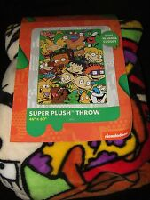 Catdog Ren & Stimpy Rugrats Hey Arnold Rocko's Real Monsters Plush Throw Blanket