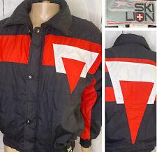 Vintage Ski Lion Puffer Jacket 80s Thermoloft Thin Insulated Full Zip Retro Sz M
