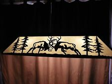 X Large Laser cut Steel FIGHTING BULL ELK  Pool Table Light Lamp hunt Ant Copper