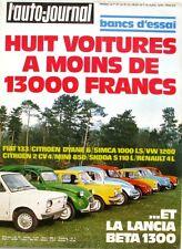 L'Auto-journal n°7-1975-LANCIA BETA 1300-KAWASAKI 400-SEAT 133-SIMCA-MINI 850