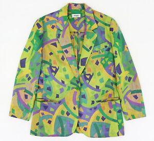 MISSONI Donna Vintage Ladies Multicolor Blazer Jacket  UK 12 US 8 EU 38 Italy