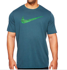 9a4c003fb989a8 NIKE Tee Big   Tall Dri-Fit Crewneck Swoosh T-Shirt Deep Green Jungle
