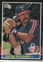 FREE SHIPPING-MINT-1985 Donruss Wayne Tolleson Texas Rangers 378 +BONUS CARDS