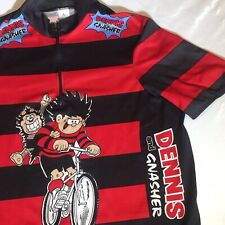 Vintage 1998 Dennis The Menace & Gnasher Large Zip Cycling Jersey Unique Rare