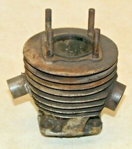 OLD Antique Motorcycle Cylinder Barrel Head CZ? Jawa? Husqvarna? Villiers?