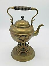 Pat. Jan.12. 1892 S. Sternau Co. Brass Tilting Teapot with Burner and Stand