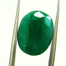 4.89 Ct Certified Natural Green Emerald Loose Oval Cut Gemstone Stone - 131269