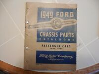 Ford 1949 Chassis Parts Catalogue Manual, ORIGINAL, Coupe Sedan Woodie V-8