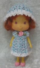 STRAWBERRY SHORTCAKE Doll Clothes #17 Handmade Crochet Dress & Hat Set