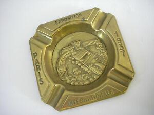 ANCIEN CENDRIER EXPOSITION INTERNATIONALE PARIS 1937 TOUR EIFFEL cuivre