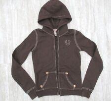 New! True Religion Women's Classic Fleece Lined Hoodie in Brown Size: XSmall