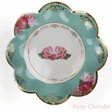 Floreale Look Vintage Piastre-look vintage con dettaglio oro metallizzato - (GRANDE/25 cm)