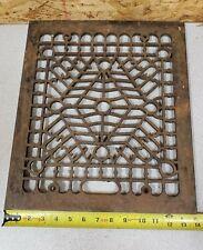 Vintage Cast Iron Floor Register Grate,Upcycle,Decor