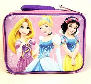 Disney Princess Insulated Thermos Lunch box Rupunzel Snow White Cinderella NEW