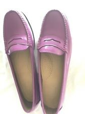 Bass Weejuns Deep Violet Patent Leather Loafers Size 9 1/2 M