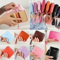 New Women Mini Wallet Bifold Purse Leather Clutch Coin Bag Case Zip Card Holder