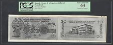 Burundi Face & Back 20 Francs Undated  Unlisted Photograph Proof Uncirculated