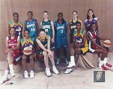 2002 WNBA ALLSTAR EAST & WEST TEAMS LICENSED COLOR PHOTOGRAPHS LESLIE BIRD +++