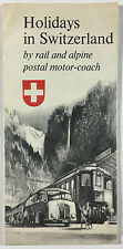 Holidays In Switzerland By Rail and Motor Coach Travel Brochure 1956 With Map