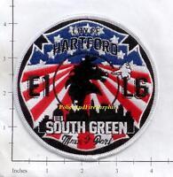 """CT Pouqonnock Bridge  Engine-33 // Ladder-35 3.5/"""" x 5/"""" size fire patch"""