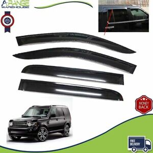 Fit Land Rover Discovery 3 4 WINDOW DEFLECTOR VISOR VENT SHADE SUN GUARD BLACK