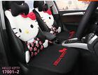 New Hello Kitty Car Cute Universal Car Seat Covers Seat Cushion Cotton Black 002