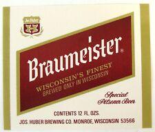 Jos Huber BRAUMEISTER - SPECIAL PILSENER BEER label WI 12oz Var. #2 - larger