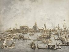 CANALETTO ITALIAN ASCENSION DAY FESTIVAL VENICE ART PAINTING POSTER BB5050A