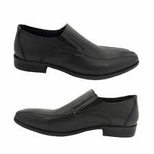 Mens Shoes Woodlands Filbert Leather Slip on Work or Formal Black UK Size 6-12