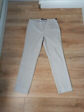 Robell Trousers 'Marie' Grey Stretch Elasticated Waist Pull On Size 16