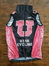 Utah Cycling Vest Jersey DNA Women's Windbreaker Size Small Red Black Full Zip