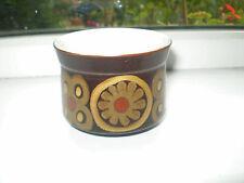 Denby Arabesque Sugar Bowl 8.5 cm Diameter Brown Abstract Stoneware 1970s Retro
