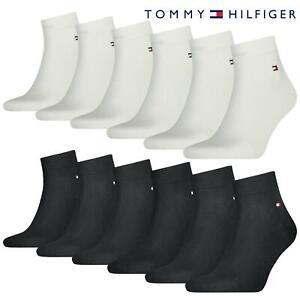 Tommy Hilfiger Quarter Socks TH Cotton Blend Ankle Sports Sock 6 Pack