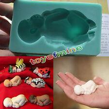 3D Baby schläft Silikon Fondant Form Kuchen Dekor Seife Vereisung Form