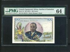 French Equatorial Africa:P-32,100 Francs,1957 * Gen. Felix Eboue * PMG Ch.UNC 64