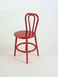 Dollhouse Miniature HALF SCALE 1:24 RED Metal Chair, B0194