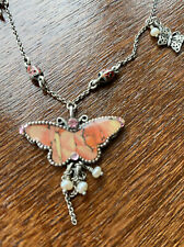 Pilgrim Butterfly Necklace Pink