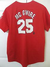 MLB St Louis Cardinals Mark McGwire #25 Shirt 1998 Home Run Champ Season Small