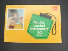 Kodak Pocket Instamatic 30 1971 Camera Instruction Book / Manual / User Guide
