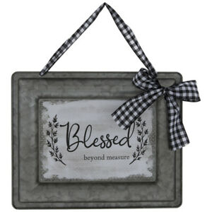 Blessed Beyond Measure Decorative Wall Sign Plaque